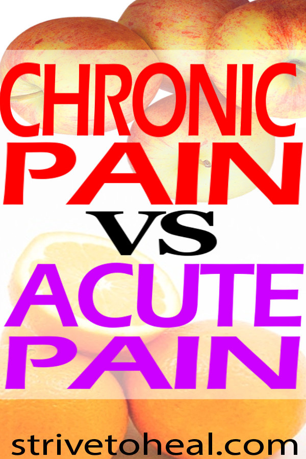 Find out the differences between chronic pain vs acute pain including information on recovery time, survival value, medications & other treatments as well as brain pain maps.