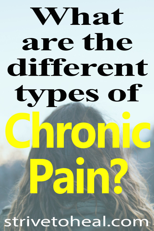 Find out what the different types of chronic pain are. Learn all about somatic or musculoskeletal, viscerdal or inner organ, neuropathic or nerve, nociceptive & inflammatory pain. Learn about the different types of causes of chronic pain & what they feel like.