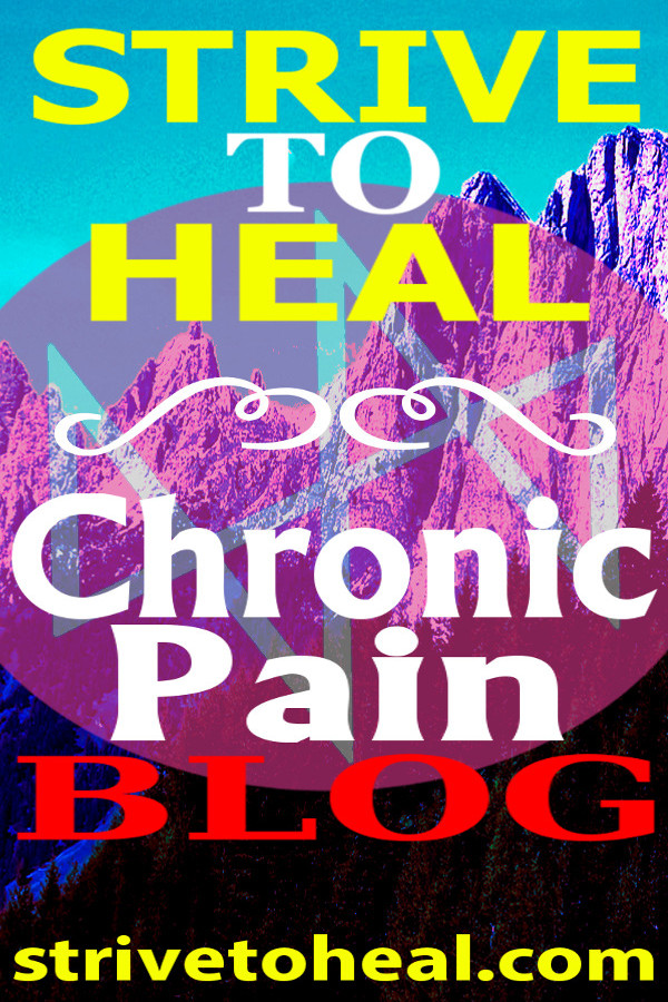 A chronic pain blogger's healing journey as she recovers from chronic pain syndrome, neuropathic or nerve pain, sacroiliac joint (SIJ) dysfunction, pelvic girdle dysfunction, myofascial pain syndrome, depression & more.