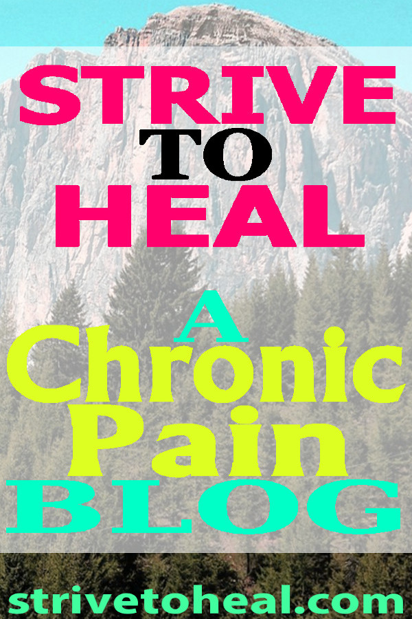 Chronic pain, chronic illness and invisible disability blog is on a mission to provide inspiration, motivation and hope to those suffering from chronic illnesses' such as chronic pain syndrome, fibromyalgia, SI joint dysfunction, myofascial pain syndrome, neuropathic pain, arthritis and others.